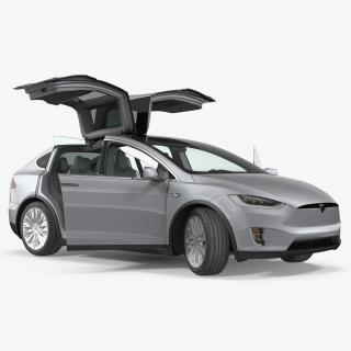 3D model Tesla Model X P90D 2017 Rigged
