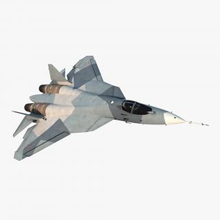 3D model Sukhoi T-50 PAK FA Rigged
