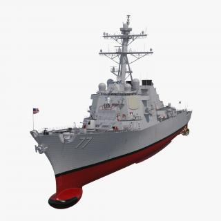 3D Arleigh Burke Destroyer OKane DDG-77