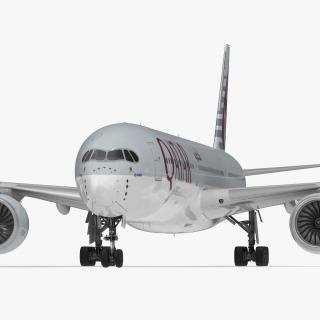 Airbus A350-1000 Qatar Rigged 3D model