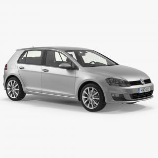3D model Volkswagen Golf 2017