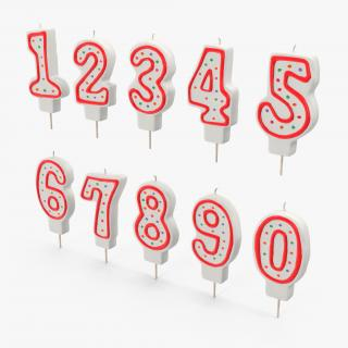 Birthday Number Candles Set 3D