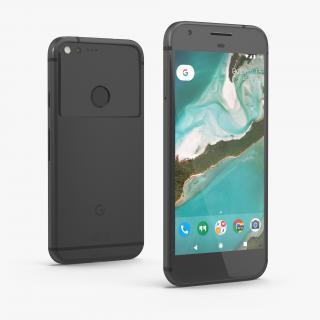3D Google Pixel XL Phone Quite Black model