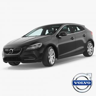 3D Volvo V40 Hatchback Rigged