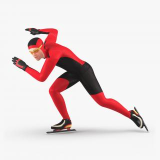 Speed Skater Generic Pose 3 3D