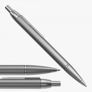 Steel Ballpoint Pen 3D model