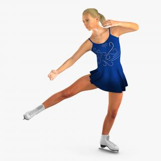 3D model Female Figure Skater 2 Dancing Pose
