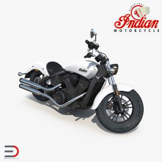 3D Motorcycle Indian Scout Sixty 2016 Rigged