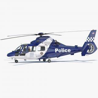 3D Police Helicopter Eurocopter AS 365 N2 Dauphin