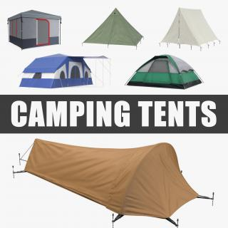 3D Camping Tents Collection 3