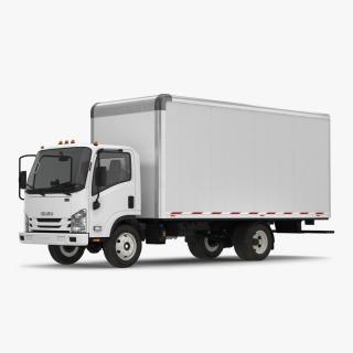 3D model Box Truck Isuzu NPR 2018 Simple Interior