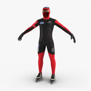Speed Skater Suit 3D