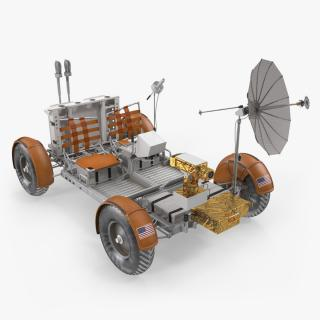 Lunar Roving Vehicle from Apollo 15 Rigged 3D