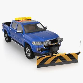3D model Pickup with SnowPlow