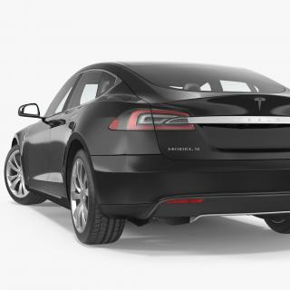 Tesla Model S 90D 2015 Rigged 3D model