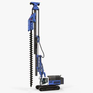 3D Spiral Drilling Machine Generic Rigged model