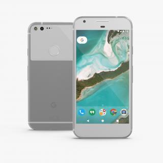 3D Google Pixel XL Phone Very Silver model
