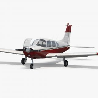 Personal Propeller Aircraft Generic Rigged 3D