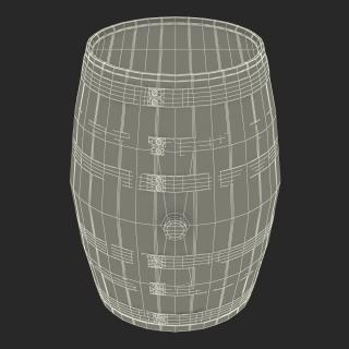 3D Wooden Barrel model