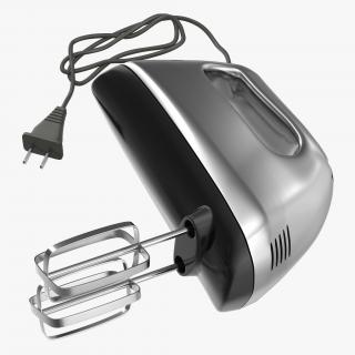 Hand Mixer Chrome 3D