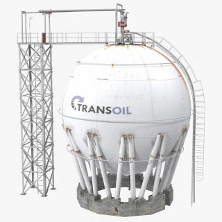 3D model Oil Storage Tanks Collection 2