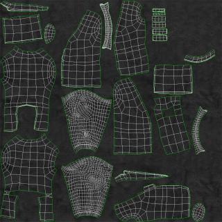 3D Mens Suit Jacket 6 model