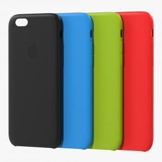 iPhone 6 plus Silicone Cases Set 3D Models 3D