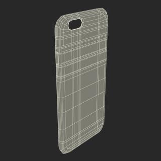 iPhone 6 Plus Silicone Case Blue 3D