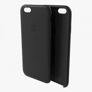 3D iPhone 6 plus Silicone Case Black model