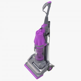 3D model Stand Up Vacuum Cleaner Violet