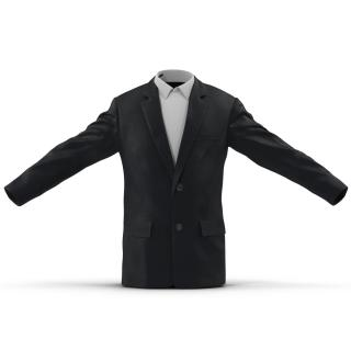 3D Mens Suit Jacket 2 model