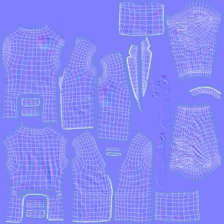 3D Mens Suit Jacket 3 model