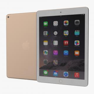 iPad Air 2 Gold 2 3D
