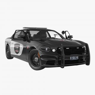 3D model Generic Police Car Rigged