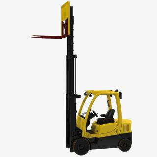 3D model Forklift Rigged