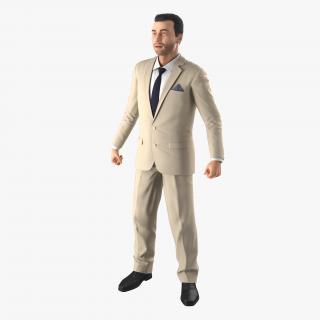 Mediterranean Businessman Rigged 3D