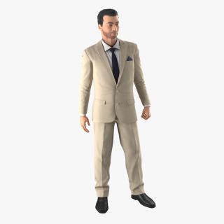 Mediterranean Businessman Rigged 2 3D model