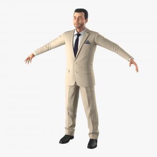 3D model Mediterranean Businessman with Hair