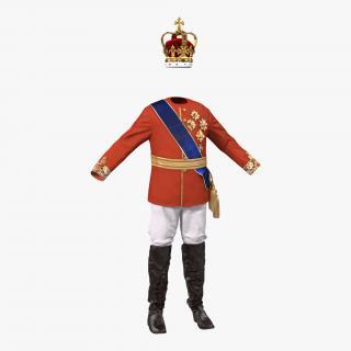 3D model Royal King Costume 3