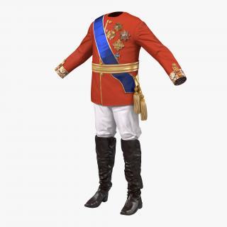 3D model Royal King Costume 4