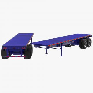 3D Flatbed Trailer Generic model