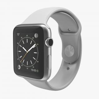3D Apple Watch Sport Band White Fluoroelastomer 2