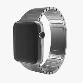 3D Apple Watch Link Bracelet Dark Space
