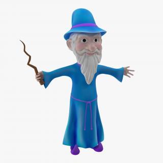Cartoon Wizard 3D model