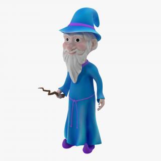 3D Cartoon Wizard Rigged