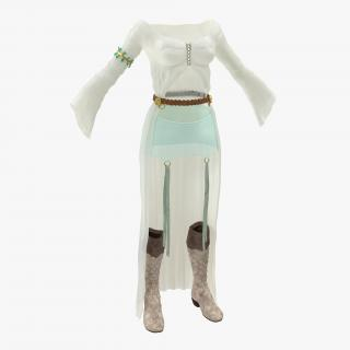 3D model Female Medieval Clothes 3