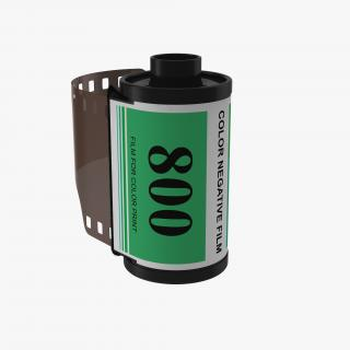 3D model 35mm Film Roll Green
