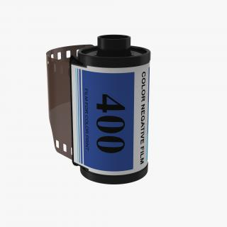 Film Roll 35mm Blue 3D model