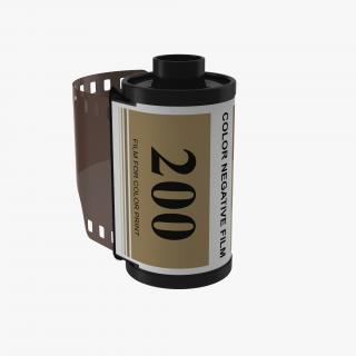35mm Film Roll Gold 3D model