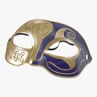 Masquerade Mask Purple 3D